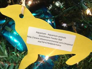 photo - Ornaments like this can be picked out from the Wild Wish List tree at the Oklahoma City Zoo or by visiting amazon.com. Items donated by the public are used for enrichment of the animals. Photo PROVIDED