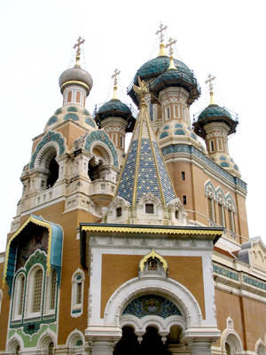 photo - The historic Russian Cathedral in Nice, built during the reign of Tsar Nicolas II, is celebrating its 100th anniversary. (photo by Michaelanne Jerome)