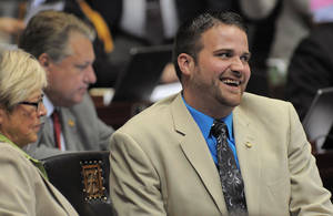 Photo -   This April 25, 2012, photo provided by Missouri House Communications shows Missouri Rep. Zachary Wyatt, R-Novinger. The Republican Missouri House member announced Wednesday, May 2, that he's gay and is calling on GOP leaders to end legislation that would limit discussion of sexual orientation in public schools. (AP Photo/Missouri House Communications)