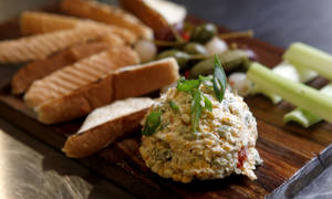 Photo - Charred Jalapeno Pimento Cheese is served  with toast  at  Iron Star Urban Barbecue  in Oklahoma City. Photo by Bryan Terry, The Oklahoman <strong>BRYAN TERRY - THE OKLAHOMAN</strong>