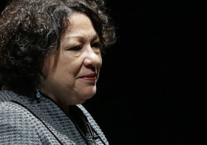 Photo - FILE - This Sept. 19, 2013 file photo shows Supreme Court Justice Sonia Sotomayor in Newark, Del. The First Amendment protects public employees from job retaliation when they are called to testify in court about official corruption, the Supreme Court ruled Thursday.The justices decided in favor of former Alabama community College official Edward Lane, with Sotomayor saying Lane's testimony was constitutionally protected because he was speaking as a citizen on a matter of public concern, even if it covered facts he learned at work. (AP Photo/Patrick Semansky, File)