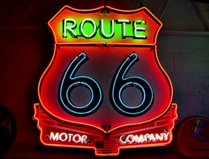 Photo - Route 66 Motor Company sign, Thursday , February 14, 2013. The signs are in a private collection but represent the type they would like to have on display in the Billboard and Sign Museum project in Bethany. Photo By David McDaniel/The Oklahoman
