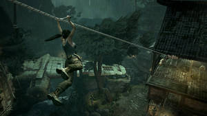 "Photo - This publicity photo released by Crystal Dynamics/Square Enix shows a scene from the video game, ""Tomb Raider."" (AP Photo/Crystal Dynamics/Square Enix)"
