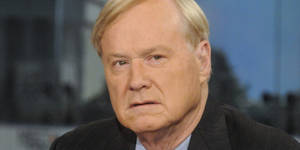 "Photo - MEET THE PRESS -- Pictured: (l-r)       Chris Matthews, Host of MSNBCs Hardball"" appears on ""Meet the Press"" in Washington, D.C., Sunday, Feb. 23, 2014.  (Photo by: William B. Plowman/NBC/NBC NewsWire via Getty Images)"