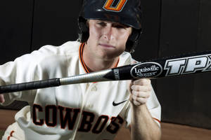 Photo - OKLAHOMA STATE UNIVERSITY / COLLEGE BASEBALL: OSU baseball player Saulyer Saxon at Reynolds Stadium in Stillwater Thursday, May 17, 2012. Photo by Doug Hoke, The Oklahoman