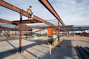 photo - Work is proceeding on a new Deer Creek elementary school north of NW 150 and Rockwell.  Photo by Paul Hellstern, The Oklahoman <strong>PAUL HELLSTERN</strong>