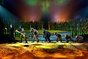 "Photo -   This undated theater image released by Cirque du Soleil shows a scene from ""Totem,"" a show that traces the journey of the human species from its original amphibian state. The show will open March 14 at Citi Field, home of the New York Mets. (AP Photo/Cirque du Soleil)"