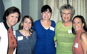 Photo - Gayla Kelly, Christy Glenn, Mary Coffman, Barbara Howard and Kerry Myers. PHOTO PROVIDED