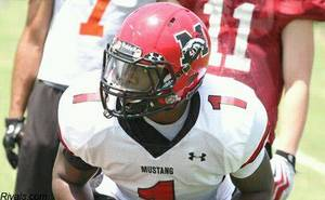 Photo - Mustang linebacker Cory Irwins is shooting up the recruiting boards after posting strong camps. Photo provided.