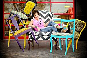 photo - Edmond designer Kellie Clements offers a line of chairs she reuphosters and refinishes by hand. The line is available for sale at her website, http://modernwhimsyinteriors.com. Photo provided. <strong></strong>