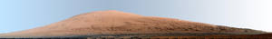 Photo - This composite image released by NASA shows a panoramic view of Mount Sharp, made from dozens of images. The Martian mountain is the ultimate destination for the Curiosity rover. NASA scientists said Monday March 18, 2013, the rover went into safe mode over the weekend, further delaying the restart of science experiments. (AP Photo/NASA)