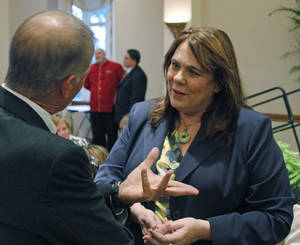 Photo - CNN political correspondent Candy Crowley spoke Wednesday at the University of Oklahoma. Crowley said both President Barack Obama and Republican challenger Mitt Romney have reason to be concerned going into the November elections. Photo by Silas Allen, The Oklahoman <strong>Silas Allen</strong>