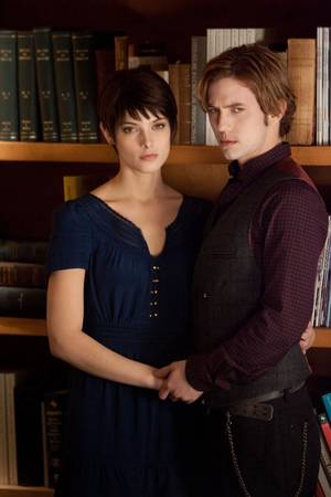 "photo - Ashley Greene and Jackson Rathbone appear in a scene from ""The Twilight Saga: Breaking Dawn - Part 2."" Summit Entertainment photo <strong></strong>"