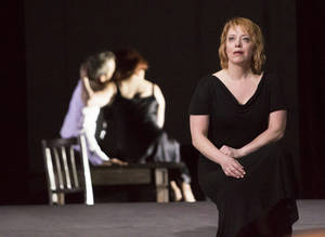 Photo - This photo provided by the Houston Grand Opera shows Nina Stemme performing as Isolde in Houston Grand Opera's Tristan and Isolde. (AP Photo/Houston Grand Opera, Felix Sanchez)
