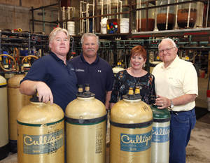 Photo - The Mollman family owns and operates the Culligan water franchisee at 2521 S Interstate 35 Service Rd. in Oklahoma City. From left are Greg, Brian, Jan and John Mollman. <strong>PAUL HELLSTERN - The Oklahoman</strong>