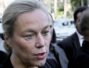 "Photo - FILE - In this Oct. 22, 2013 file photo Sigrid Kaag, the Dutch diplomat leading an international mission to dismantle Syria's chemical weapons program, speaks with reporters in Damascus, Syria. Sigrid Kaag said Tuesday, March 4, 2014  that the pace of removing chemicals from the civil war-torn country is picking up and an end-of-June deadline for total destruction of the program is still achievable. In an interview with The Associated Press Kaag said Syria has agreed a 60-day timetable ""to accelerate and intensify their efforts to ensure timely removal"" of chemicals that will be destroyed outside the country. (AP Photo/Pool, File)"