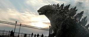 """Photo -  A scene from """"Godzilla"""" is shown.  <strong></strong>"""