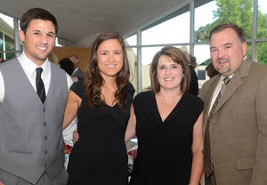 Photo - Luke Engelman, Jordan, Lisa, and Matt Rohwer. Photo by David Faytinger, for The Oklahoman
