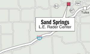 photo - The location of the L.E. Rader Center in Sand Springs is detailed in this map from The Oklahoman. The Rader Center was identified in a federal study as one of 13 juvenile detention facilities with a high rate of sex abuse and victimization.