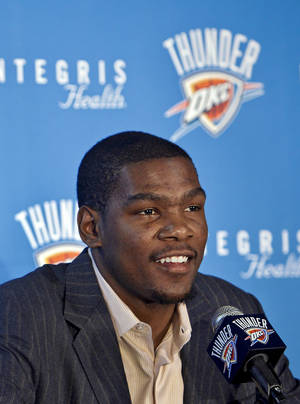 Photo - The Thunder's Kevin Durant turned 22 on Wednesday. Photo by Chris Landsberger, The Oklahoman