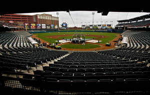 photo - AT&amp;T Bricktown Ballpark is one of the things that could be attractive to potential Major League Baseball partners for the RedHawks. PHOTO BY CHRIS LANDSBERGER, THE OKLAHOMAN