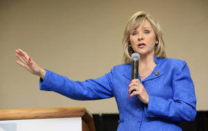 photo -  Republican gubernatorial primary winner U.S. Rep. Mary Fallin,  R-Oklahoma City. By Paul B. Southerland