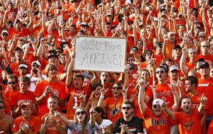 Photo - Fans flocked to Boone Pickens Stadium for the 2009 game against Georgia. Photo by Chris Landsberger, The Oklahoman Archive