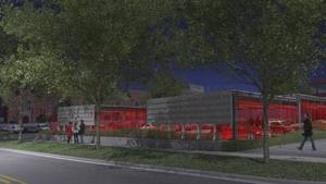 Photo - MidTown Renassaince is planning to create a series of shaded parking structures at NW 10 and Robinson that will double as event space. <strong>rendering by Brian Fitzsimmons</strong>