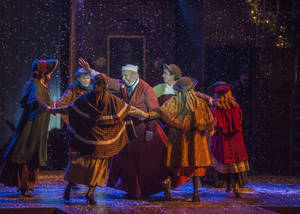 "Photo - Christopher Bloch, center, an actor based in Washington, D.C., makes his Lyric Theatre of Oklahoma debut playing Ebenezer Scrooge in Lyric's third annual production of ""A Christmas Carol."" Photo provided. <strong></strong>"