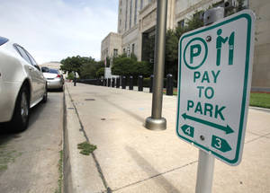 Photo - Oklahoma City will eventually replace all parking meters with pay stations in downtown Oklahoma City, OK, Friday, June 22, 2012,  By Paul Hellstern, The Oklahoman