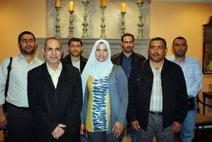 Photo - University of Basrah professors and faculty concluded a 10-day visit to Oklahoma State University. Front row from left, are Abduladhem Abdulkareem Ali Modhfar, Fatemah Kadhum Hassan Al-Assfor and Aqeel Abd Mohammed Abbas Hamdi. Back row from left, are Ammar Ali Ojimi Alhilfi, Ali Ahmed Abed Abed, Abbas Jasim Al-Sangoor and Husam Ali Al-Hashmi. (OSU Photo)