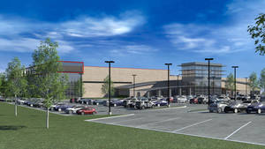 Photo - An artist rendering of the exterior of Summit Sports Complex which will be at I-35 and Covell in Edmond, Okla., with a planned opening of the summer of 2015.