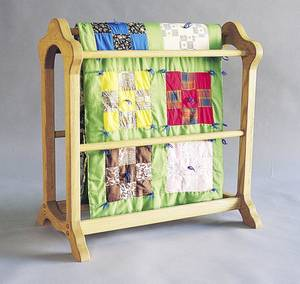 photo - Classic quilt rack Photo provided. <strong></strong>
