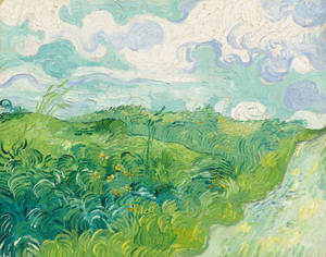 "Photo - This undated image provided by the National Gallery of Art, shows ""Green Wheat Fields, Auvers"" by Vincent Van Gogh.  The painting, that has been hidden away at a Virginia estate for decades, will have a new home at the National Gallery of Art.  (AP Photo/National Gallery of Art)"