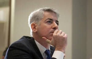 Photo - FILE - This Feb. 6, 2012, file photo, shows William Ackman, of Pershing Square Capital Management, in Toronto. It was announced Monday, May 12, 2014, that Botox maker Allergan is rejecting a takeover bid from Valeant Pharmaceuticals, saying that the unsolicited bid worth nearly $46 billion undervalues the company and carries significant risk. Shortly after Canada's Valeant and activist investor Ackman made their offer public last month, Allergan announced a so-called poison pill plan, a defensive tactic that makes a buyout prohibitively expensive. (AP Photo/The Canadian Press, Pawel Dwulit, File)