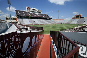 Photo -  Gaylord Family-Oklahoma Memorial Stadium on the campus of the University of Oklahoma could undergo significant renovations in the coming years. PHOTO BY STEVE SISNEY, The Oklahoman  <strong>STEVE SISNEY -   </strong>
