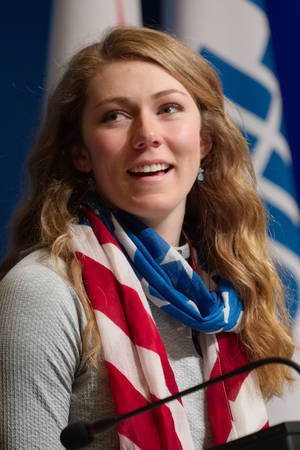 Photo - U.S. alpine skier Mikaela Shiffrin talks about her gold medal win in the women's slalom during a press conference at the 2014 Winter Olympics, Saturday, Feb. 22, 2014, in Sochi, Russia. (AP Photo/J. David Ake)