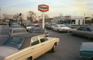 Photo - Motorists line up at a gas station on New York's Long Island, hoping to fill their tanks during the gasoline shortage of 1973-1974. Long lines and fuel restrictions were common across the country. (AP Photo)  <strong> - AP Photo</strong>