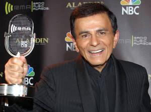 Photo - FILE - In this Oct. 27, 2003, file photo, Casey Kasem poses for photographers after receiving the Radio Icon award during The 2003 Radio Music Awards in Las Vegas. A spokesman for Kasem's daughter says the ailing radio personality has been taken by ambulance to a hospital or medical facility in Washington state. Danny Deraney told The Associated Press that Kerri Kasem accompanied her father when an ambulance took him Sunday, June 1, 2014, to receive care. (AP Photo/Eric Jamison, File)