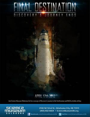 """Photo - """"Final Destination: Discovery's Journey Ends,"""" will take place from 9 a.m. to 5 p.m. on Tuesday, April 17.    <strong></strong>"""