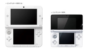 Photo -   In this image released by Nintendo Co., Japanese game maker Nintendo's 3DS LL, left, and 3DS are shown. Nintendo has upgraded its 3DS handheld to sport a screen nearly twice as big as the previous model amid hot competition against smartphones and tablets that are wooing people away from dedicated gaming machines. The Kyoto-based maker of the Super Mario games and Wii home console said Friday, June 22, 2012, the Nintendo 3DS LL, called 3DS XL in overseas markets, goes on sale in Japan and Europe July 28, and in the U.S. from Aug. 19. It will sell in Japan for 18,900 yen ($236) and $199.99 in the U.S. It did not give a price for Europe. (AP Photo/Nintendo Co.) EDITORIAL USE ONLY