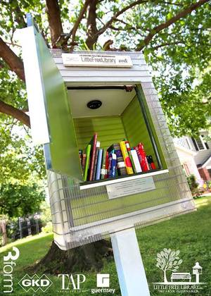 Photo - TAP Architecture and Guernsey designed and built the Little Free Library at 3128 NW 20 in the Linwood neighborhood. <strong> - PROVIDED BY AIA CENTRAL OKLAHOMA</strong>