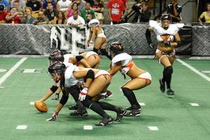"Photo - Photo of Orlando's lingerie football team. Used with permission of  <a href=""http://www.orlandosentinel.com/entertainment/os-orlando-fantasy-lingerie-football-pictures,0,6349441.photogallery"">OrlandoSentinel.com</a>"