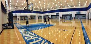 photo - Oklahoma City Thunder players on the first day of training camp. Oct. 2. 2012. Photo provided. 