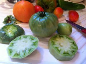 Photo - Passion for food: Sherrel Jones shares ideas for how to use your green tomatoes besides frying them.   <strong></strong>
