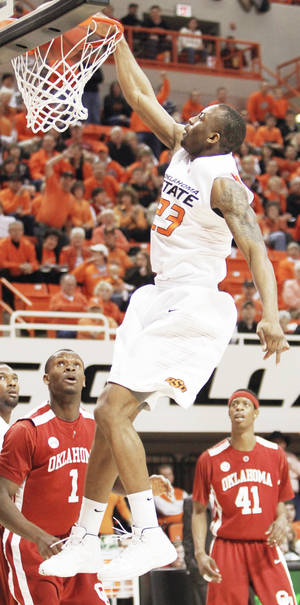 Photo - Oklahoma State's James Anderson will face his top two competitors for Big 12 player of the year in today's game against Kansas. PHOTO BY  NATE BILLINGS, THE OKLAHOMAN
