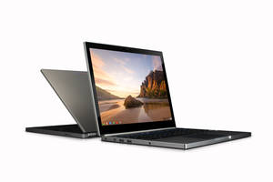 Photo - This image provided by Google shows the company's first high-end chromebook Pixel. According to a review by the Associated Press, the Machine feels light and comfortable in my hands and its high-resolution display makes photos appear sharp. (AP Photo/Google)
