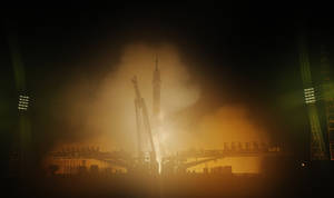 Photo - The Soyuz-FG rocket booster with Soyuz TMA-12M space ship carrying a new crew to the International Space Station (ISS) blasts off at the Russian leased Baikonur cosmodrome, Kazakhstan, Wednesday, March 26, 2014. The Russian rocket carries U.S. astronaut Steven Swanson, Russian cosmonauts Alexander Skvortsov and Oleg Artemyev. (AP Photo/Dmitry Lovetsky)