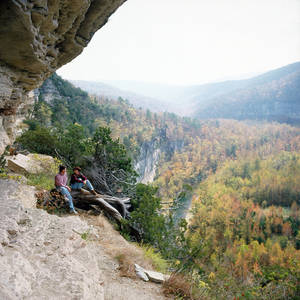 Photo - A view from Goats Trail above the Buffalo River. (Photo provided)