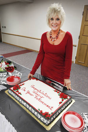 photo - City Clerk Nancy Nichols is retiring after 28 years with the city of Edmond. She was honored with a retirement party this week. PHOTO BY DAVID MCDANIEL, THE OKLAHOMAN <strong>David McDaniel - The Oklahoman</strong>